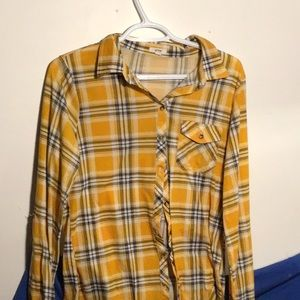 yellow flannel